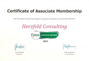 Certificate ECA Membership